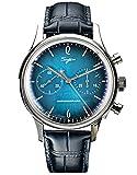 SU1901F010SN oro cuello cisne cúpula cristal mineral hombres Deep Sea Blue cronógrafo gaviota ST1901 movimiento reloj para hombre 1963
