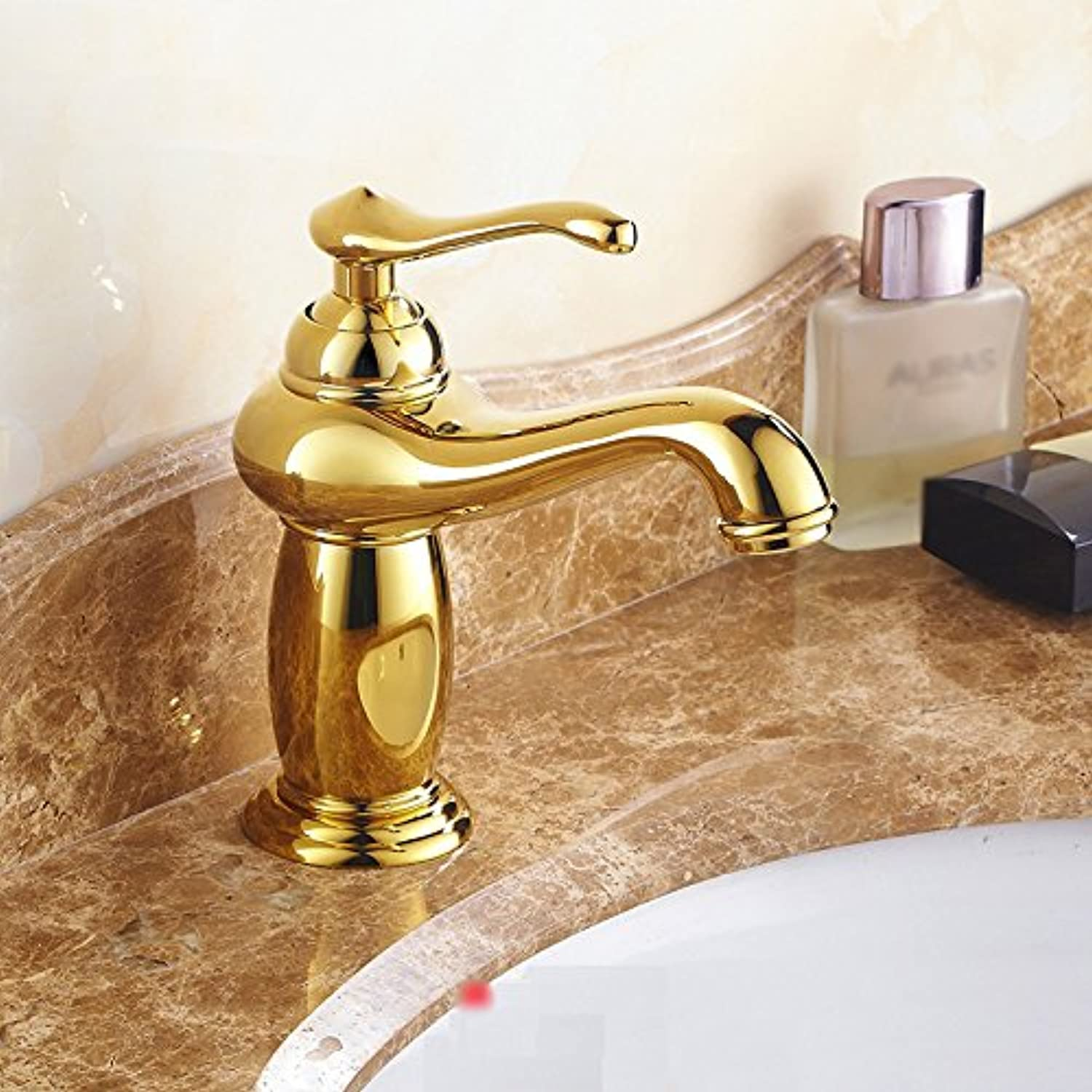 European Style Faucet Antique gold Faucet All Copper Bathroom Chrome Plating Faucet Washbasin pink gold ( color    2 )