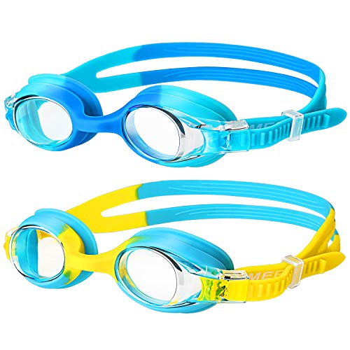 Swimming Goggles,(2 Pack) Kids Swimming Goggles With Anti Fog Lens & Wide...
