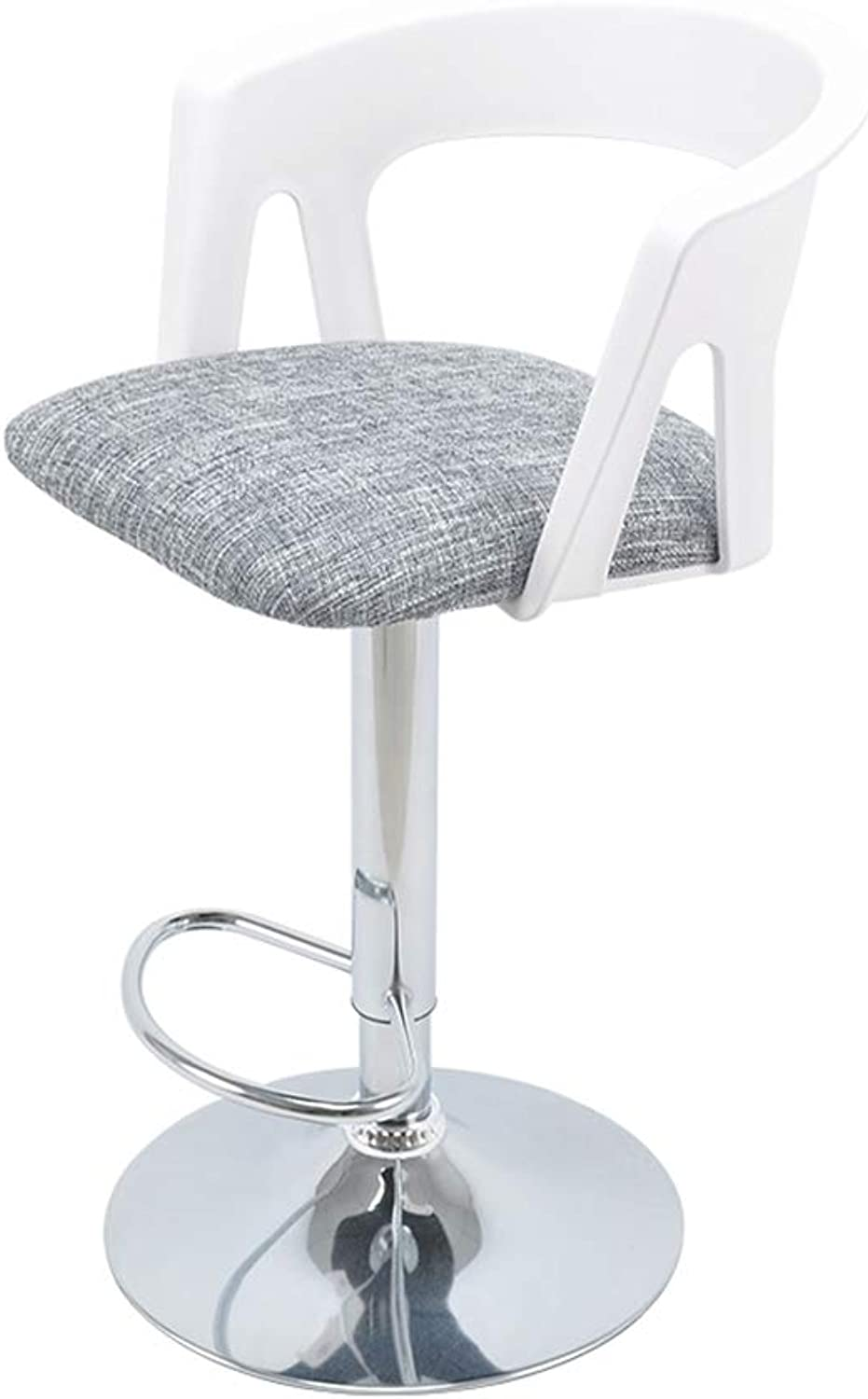 Bar Chair Stool, 360 Degree redating Height Adjustable ABS Plastic Material Chrome Stainless Steel Barstools