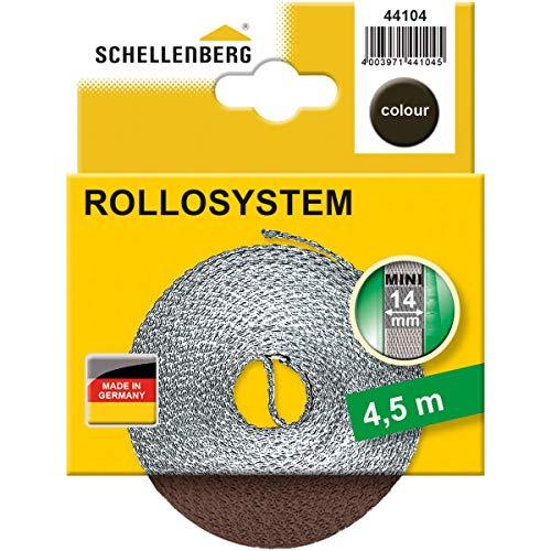 Schellenberg 44104Gurt für Rollo Breite 14mm, System Mini, Braun, 4.5m