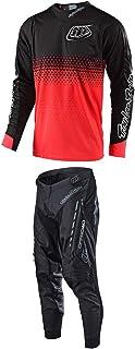 Troy Lee Designs 2019 Radius playera 2.0 Starburst rojo y pantalones negro Combo 2X/36