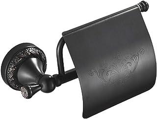 Herramientas de limpieza Soporte de papel higiénico Suministros de limpieza y saneamiento soporte de papel higiénico negro Baño Bandeja de aseo accesorios de hardware de almacenamiento de teléfono,A