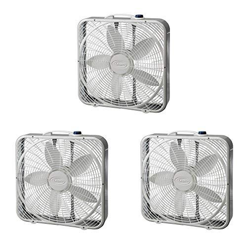 Lasko #3723 20-Inch Premium Box Fan 3-SPEED (3-Pack)