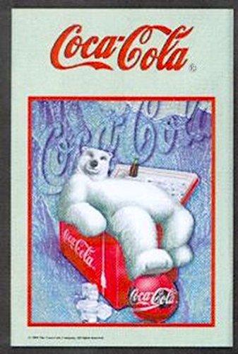 Unbekannt Spiegel 20x30 cm - Coca Cola Bär Kühlbox - erstklassiger Hinterglasdruck