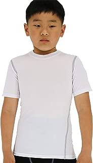 LANBAOSI Boy's Compression Shirts Child's Short Sleeve Base Layer Tops