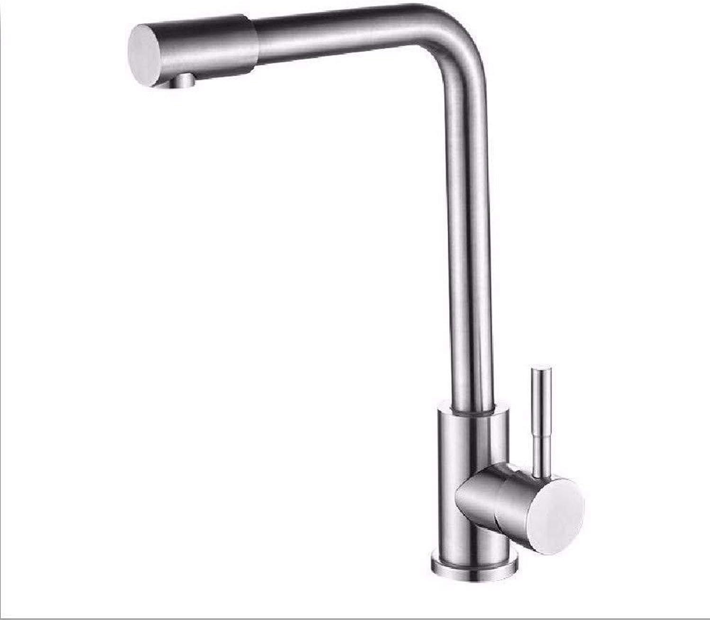 360 ° drehbarer Wasserhahn Retro Wasserhahn Küchenhahn 304 Edelstahl Spültischarmatur Becken Mischbatterie Gebürstetem Waschbecken Wasserhahn