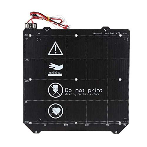 GzxLaY 3D Printer 3D Printer Accessories, Double Sided Elastic Steel Plate for Prusas i3 MK3S MK2.5 Magnetic Hot Bed+Textured Layer Elastic Steel Plate for 3D Printer