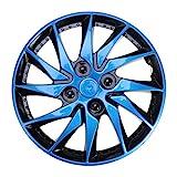 VOSAREA Tapacubos universal azul para rueda de coche de 14 pulgadas