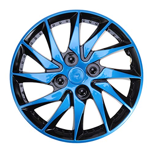 BESPORTBLE 1St Auto Radkappe Radzierblenden 14 Zoll Universal Auto Refit Zubehör für Fast Alle Gängigen Fahrzeuge Blau