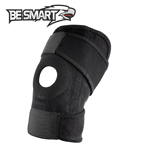 Knee Brace Support for Arthritis, ACL, LCL, MCL, Sports Exercise, Meniscus Tear Injury Recovery - Side Stabilizers Open Patella - Best Comfort Fit Adjustable Neoprene Wrap - 4 Sizes (Black, 4X-Large)