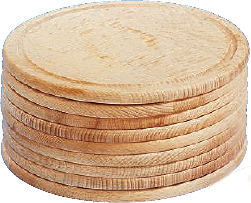 10 x Buchenholzteller/Aufschnittteller/Brotzeitteller | Ø 20 cm (2,37 € / Stück)