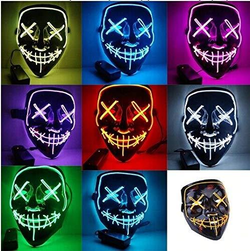 Dollar Store Máscara con luz LED para Fiesta de Halloween