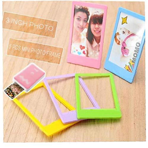 5 Piezas Marco De Papel Fotográfico Enmarcar Cuadros Mini Foto De Papel Mini Película De Color Azar