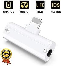 Adaptador de Auriculares para iPhone Adaptador Auriculares y Carga para iPhone 7 Adaptador Auriculares y Cargador 3,5 mm Jack Cable Compatible con iPhone 8 /8 Plus X/XS max Convertidor Soporta iOS 12