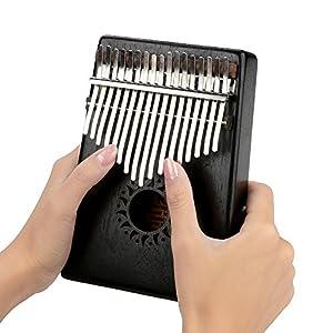 Jacksking Fingerklavier, tragbares hölzernes Kalimba-Daumen-Fingerklavier 17Key Decoration Instrument Toy, Thumb Piano(#1)