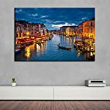 SADHAF Wall Art Canvas Painting HD Printing City Architecture Home Decor Landscape Restaurant Hotel Poster Mural A6 70x100cm