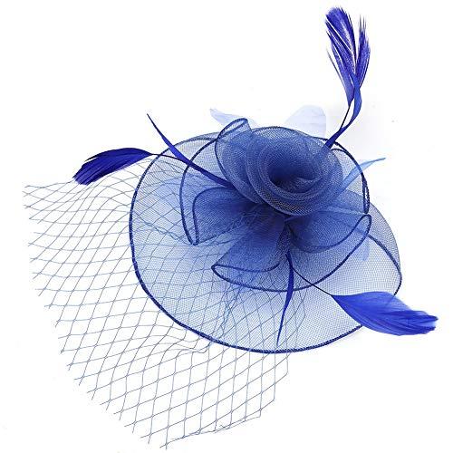 Nikou Sombrero de Gasa para Dama, Sombrero de Novia, Tocado de Boda,...