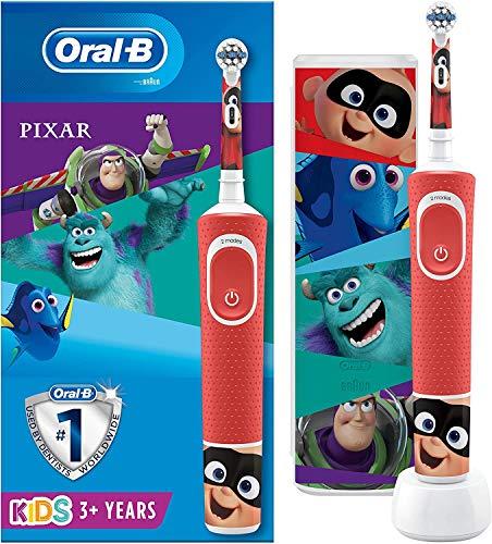 Oral-B Kids Brosse à Dents Électrique Rechargeable, 1Manche Disney Pixar, 3Ans et Plus