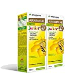 Arkoreal Jarabe Apetit Junior 150ml Pack x2 | Jalea Real, Quina y 8 Vitaminas | Estimula el Apetito | Sabor a Pera - Plátano | Complemento Alimenticio