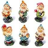 Conjunto de gnomos en miniatura de Juvale, minifiguras decorativas, accesorios para el jardín, personajes variados, decoración del hogar, decoración de mesa, inauguración de la casa, regalo de boda