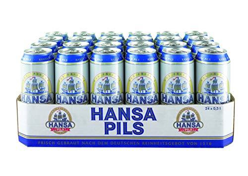 Hansa Pils 0.5 l Dosen - DAS LEGENDÄRE AUS DORTMUND - Tray DPG EINWEG (24 x 0,5 L) inkl. 6,00 Pfand