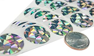 My Scratch Offs 1 Inch Hologram Silver Round Scratch Off Sticker Labels - 100 Pack