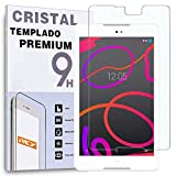REY Protector de Pantalla para BQ AQUARIS M8, Cristal Vidrio Templado Premium