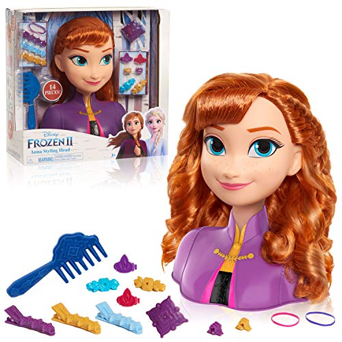 Disney Frozen 2 Cabezales Anna Styling Head, 14 Piezas.