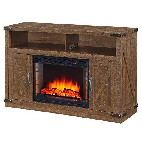 Muskoka 234-05-200 Electric Fireplace, Rustic Brown
