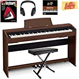 Casio Privia PX-770 Digital Piano - Brown Bundle with Adjustable Bench, Instructional Book, Austin Bazaar Instructional DVD, and Polishing Cloth