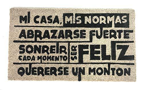 De'Carpet Felpudo Coco Entrada Casa Original Moderno Mi Casa Mis Normas 40x70