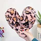 Slippers Ladies Warm Shoes Leopard Print Ladies Indoor Floor Slippers Female Home Fashion Slippers-Pink_9