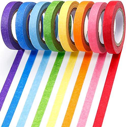PuTwo Washi Tape,Rainbow Washi Tape,Wide Washi Tape, Decorative Tape, Cute Washi Tape, Vintage Washi Tape, Japanese Washi Tape, Washi Tape for Journal, Decorative Tape for Crafts (RAINBOW002)