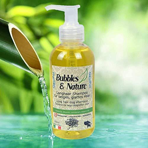 Bubbles & Nature - Champú para perros de pelo largo y contra fieltro
