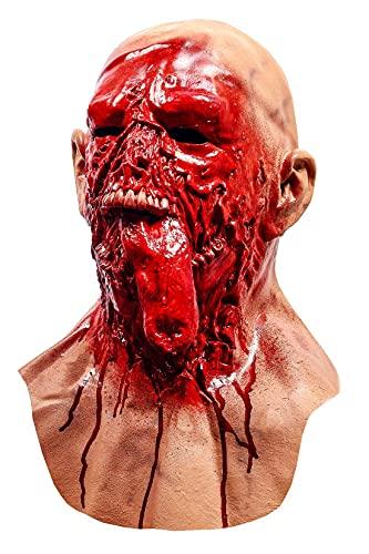 LEKA NEIL Halloween mask-Scary mask-Zombie mask-Vampire Mask-Creepy Costume Corpse Party Overhead Mask (Red-B)