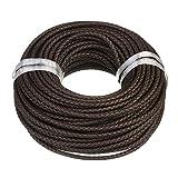 Lederband Lederschnur geflochten - Durchmesser 4 mm