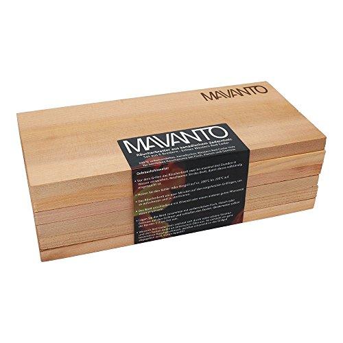 51HqFqwZjDL - MAVANTO® XXL Grillbretter Räucherbretter - Kanadisches Zedernholzbrett zum Grillen - EXTRA DICK (30x14x1,5cm) langlebig & wiederverwendbar (6er Set)