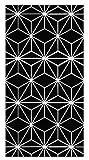 Panorama Alfombra Vinílica Líneas Estrellas Negro 100x140 cm - Alfombra Cocina Vinilo - Alfombra Salón Antideslizante e Ignífuga - Alfombras Grandes - Alfombras PVC