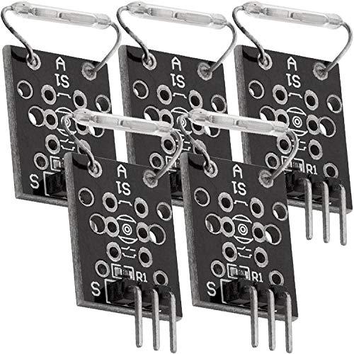AZDelivery 5 x KY-021 Interruptor Magnético Mini Magnet Reed Module Sensor Compatible con Arduino con E-Book Incluido!