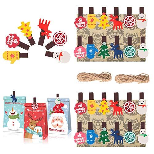 Pinza de Madera de Navidad,mini pinzas,Mini Pinzas pequeñas,Fotos Pinzas pequeños,Madera Forma de Estrella del Clip,Pinzas Mini Madera,Pinzas Clip Decorativas de Madera (B)