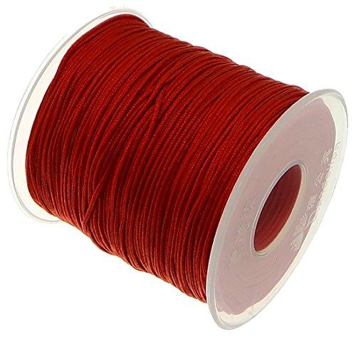 My-Bead 90m Nylonband Kordel 1mm rot wasserfest Nylonschnur Top Qualität Schmuckherstellung basteln DIY