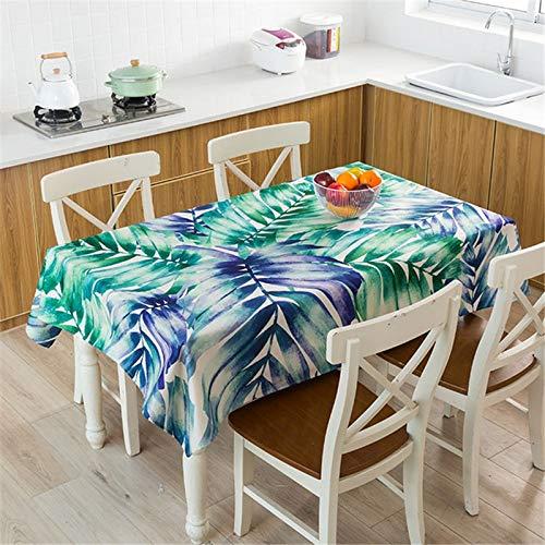 XXDD Mantel de Planta Tropical Mantel Impermeable Mesa de Comedor y Silla Mantel de algodón Cubierta de Mesa de Comedor en casa decoración A4 140x200cm