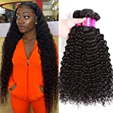 10A Brazilian Kinky Curly Bundles (16 18 20) 100% Virgin Jerry Curl Human Hair Bundles Remy Wet and Wavy Human Hair Weave Bundles