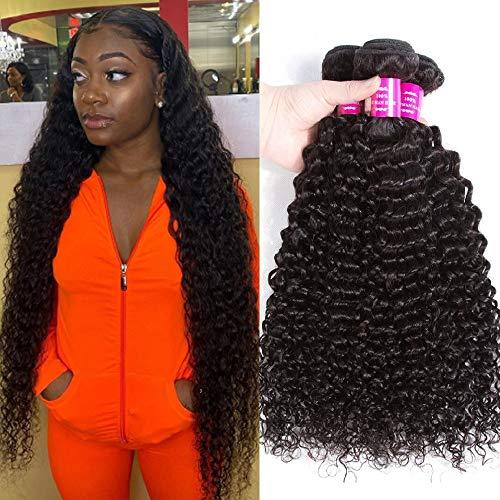 10A Brazilian Kinky Curly Bundles 100% Virgin Jerry Curl Human Hair Bundles Remy Wet and Wavy Human Hair Weave Bundles (22 24 26)