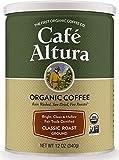 Cafe Altura Ground Organic Coffee, Fair Trade Classic Roast, 12 Ounce (Pack of 3)