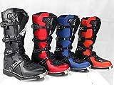 WinNet Stivali per Moto da Cross Enduro Fuoristrada Quad (45 EU, Rosso)