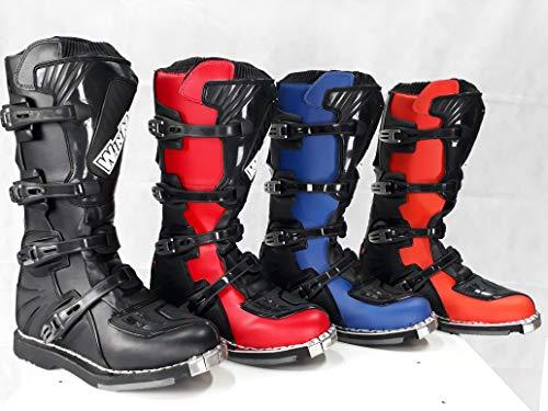 Stivali per moto da cross enduro fuoristrada quad (39 EU, Nero)