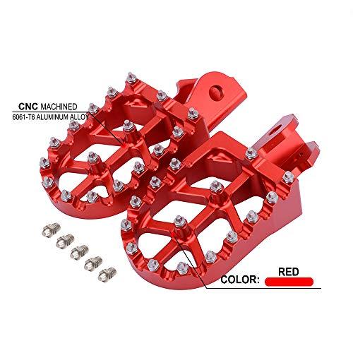 YSMOTO Pedales de reposapi/és de Aluminio CNC para Honda CRF150F CRF 150F 03-09 2003-2009 CRF230F CRF 230F 12-17 2012-2017 Dirt Bike Motocicleta roja