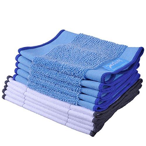 KEEPOW 10 Stück Micro - Tuch für iRobot Braava 390t 390 380t 380 Mint 4200 4200C(5 Stück Nasswischtücher +5 Stück Trocken Wischtücher)